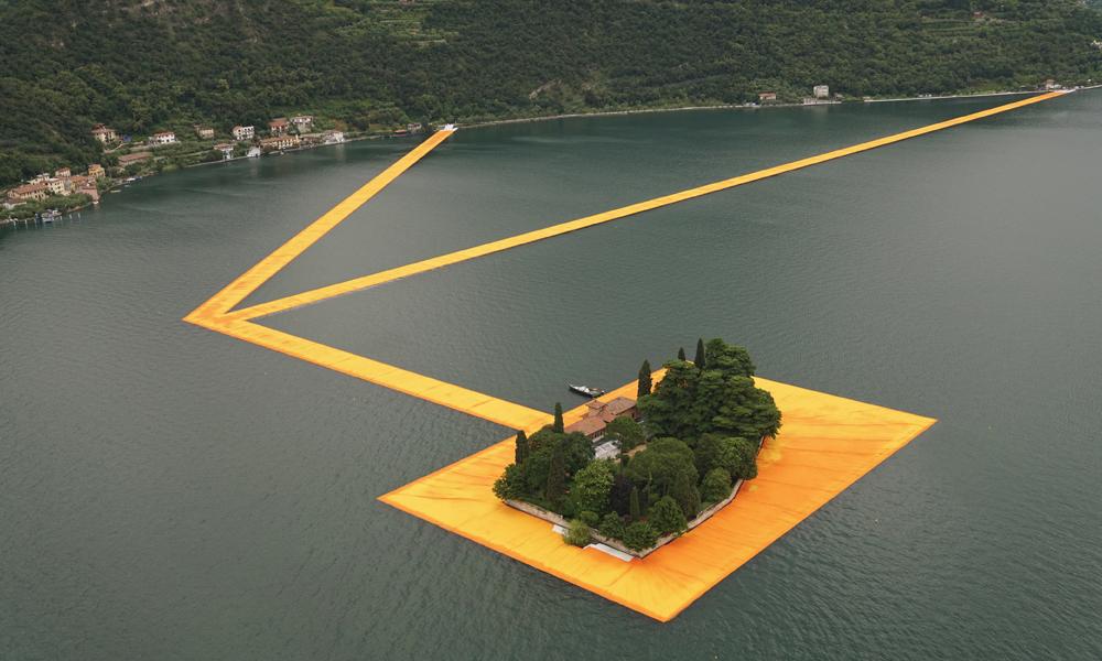 Vulcano Village The Floating Piers installazione sul Lago d'Iseo